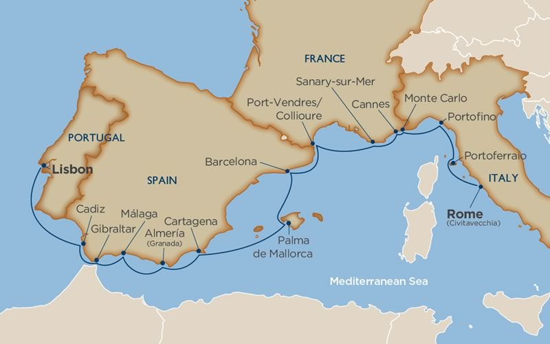 Windstar Cruises - Enchantment of the Western Med