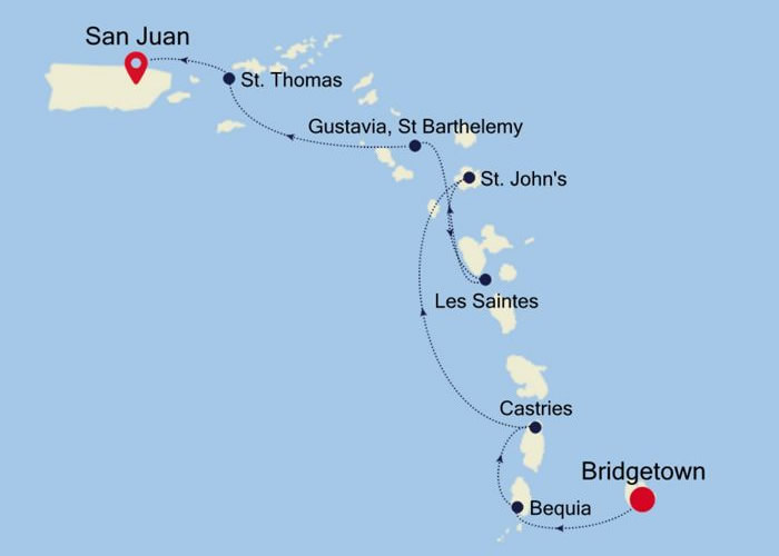 Silversea - Bridgetown to San Juan