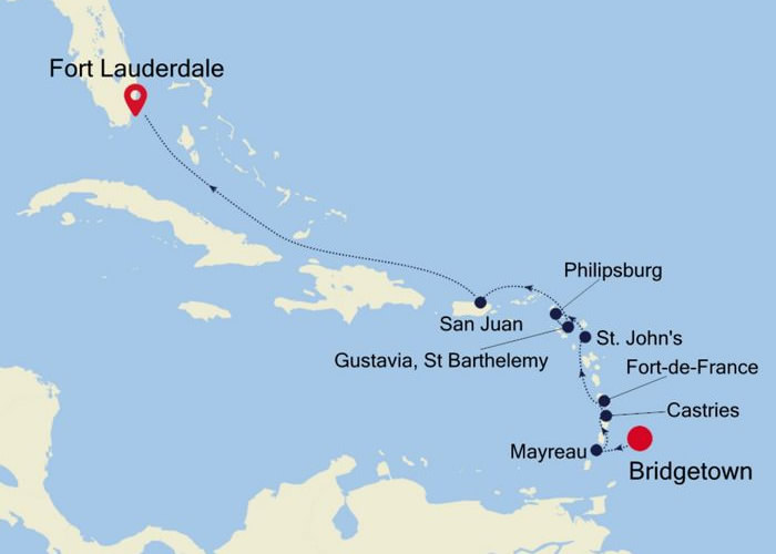 Silversea - Bridgetown to Fort Lauderdale